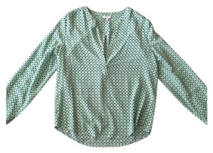 Joie Top Green/navy/white