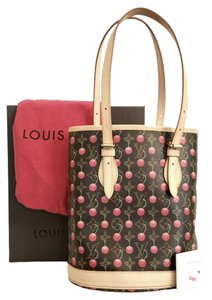 Louis Vuitton Cerises Bucket Cherry Limited Tote in Brown red Interior af88cd2c67236
