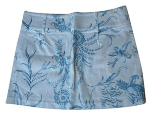 bebe Floral Skirt blue white