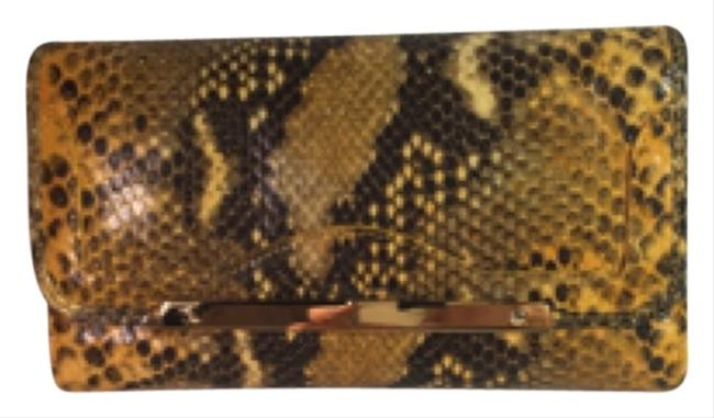 Item - Yellow Clutch Anaconda All Leather Wallet
