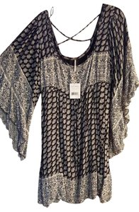 Free People short dress Black combo Bohemian &white on Tradesy