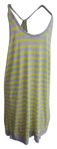 CAbi short dress Grey and yellow striped on Tradesy