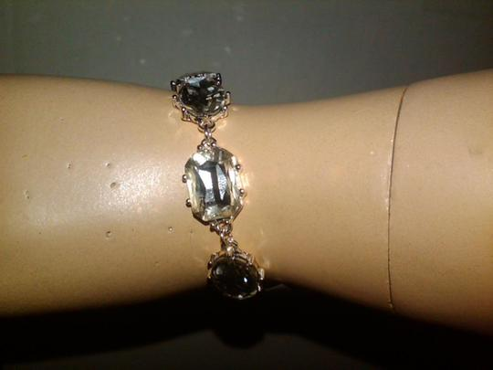 Charter Club Silver-tone Crystal Link Bracelet With Dazzling Oval-shaped Crystals