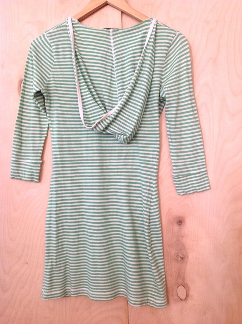 Bobi short dress Green and white on Tradesy
