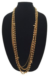 Ball & Link Chains with Crystal Necklace [ Roxanne Anjou Closet ]