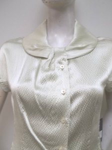 Zenobia Silk Charmeuse Top Beige