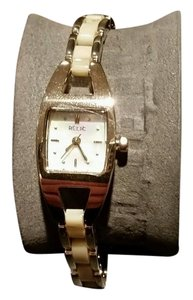Relic Relic by Fossil Elaine Gold Tone Pearlized Womens Cream Tone Watch NEW IN BOX