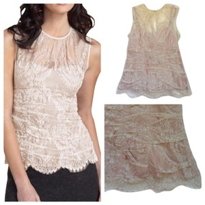 Nanette Lepore Top Cream rose peach