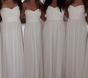Monique Lhuillier White Monique Lhuillier Strapless Bridesmaids Dress Dress