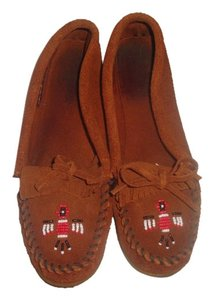 Minnetonka Suede Moccasins Brown Flats