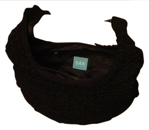 The Sak Shoulder Antique Brass Hardwre Leather Strap With Crochet Accent Leather Zipper Pull Hobo Bag