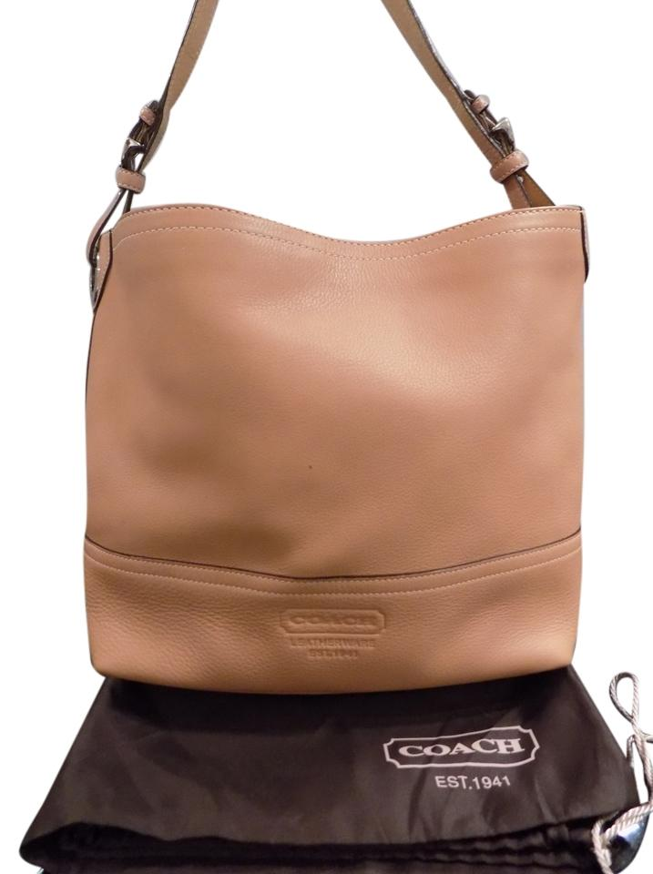 7749adb8dc Coach  d060-5715 Pebble Hobo Shoulder Camel Leather Hobo Bag - Tradesy