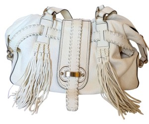 david & scotti Tassels Genuine Leather Shoulder Bag