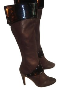 Nine West Leather Bronze/Black Boots