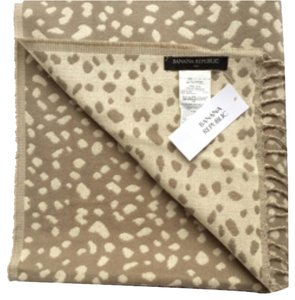 Banana Republic Banana Republic Scarf Cheetah Print Double Sided