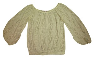 Romeo & Juliet Couture Lace Vintage Boho Top Ivory