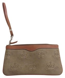Dooney & Bourke Wristlet in Light Brown (camel) Leather Trim