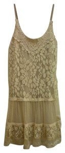 Love Culture short dress Beige Lace Boho on Tradesy