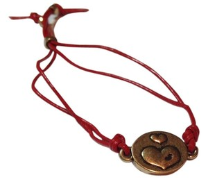 Lucky Brand Adjustable leather, quartz and metal bracelet