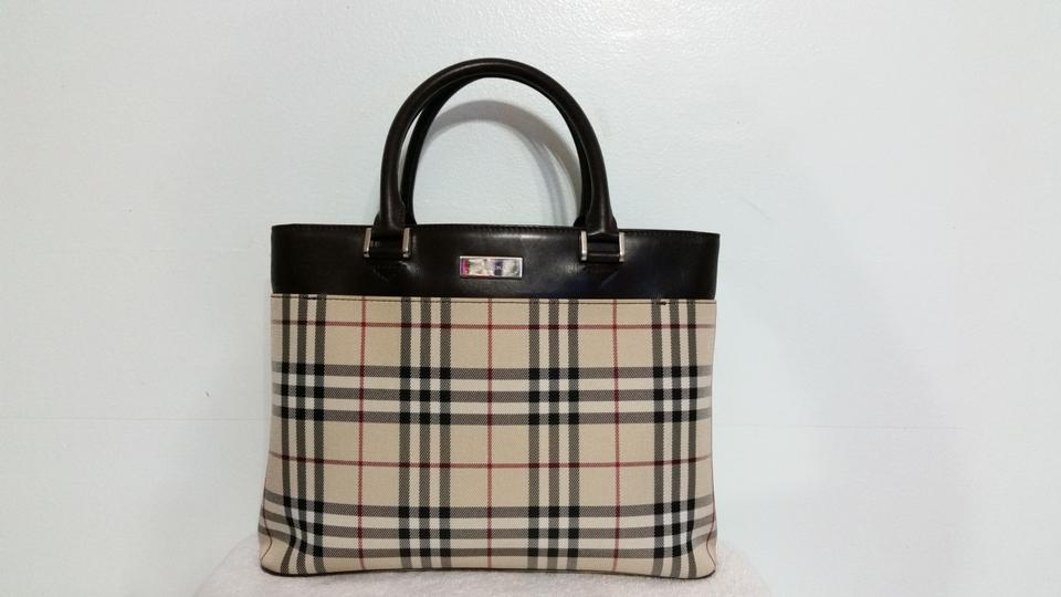 420f1edf5093 Burberry Medium-large Size Bag. Black Red Brown Beige Leather and ...