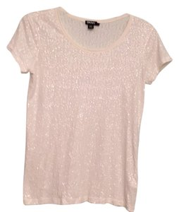 DKNY T Shirt White Sequin