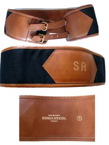 Sonia Rikiel SONIA RIKIEL Vintage but not worn Leather Canvas Waist Belt