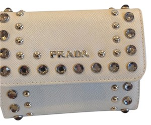 Prada PRADA TALCO BORCHI LEATHER STUDDED WALLET