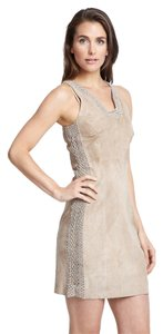 Nicole Miller Suede Leather Crochet Dress