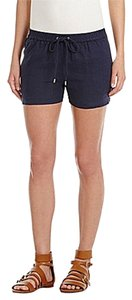 Michael by Michael Kors Drawstring Linen Shorts Blue