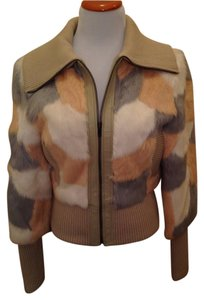 bebe Fur Patchwork Soft Fur Coat