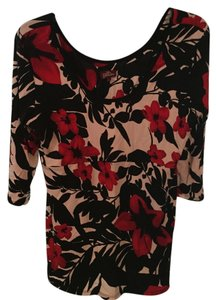 Salaam Floral Soft Stretchy Top black, red, white