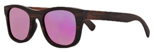 Finlay and Co. FINLAY AND CO. Ebony Wood Sunglasses with Pink Mirror Lens