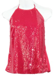 Guess By Marciano Embellished Halter Top RED