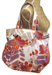 Roxy Beach Floral Canvas Satchel