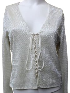 Rene Ruiz Embellished Cocktail Top WHITE