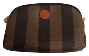 Fendi Fendi cosmetic bag, it's in the Fendi tobacco stripe pattern.
