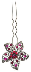 Jeweled Filigree Flower Hair Fork [ Roxanne Anjou Closet ]