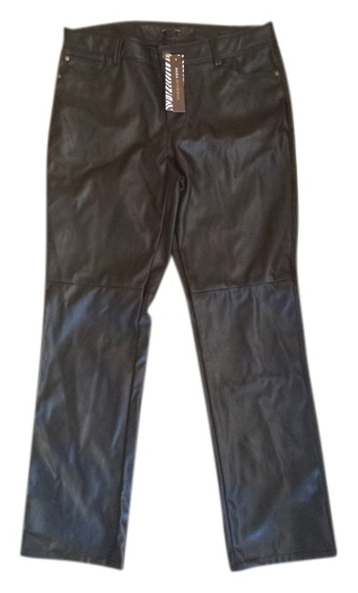 Preload https://img-static.tradesy.com/item/1004772/dana-buchman-black-faux-leather-motorcycle-straight-leg-pants-size-10-m-31-0-0-650-650.jpg