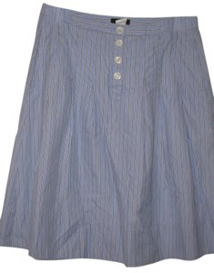 J.Crew J. Crew Skirt Blue and White