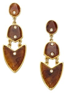 Kara Ross Artemis Clip-On Tortoise 14K Gold Plated Earrings
