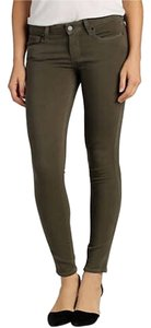Paige Denim Olive Dark Grey Skinny Jeans