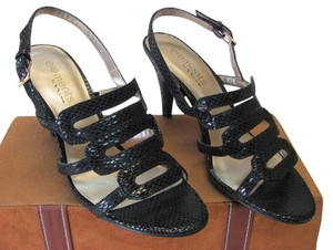 Nina Siez 7.00 M Reptile Design Very Good Condition Black, Sandals