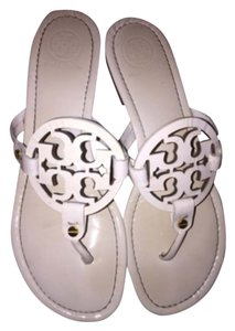 Tory Burch Ivory Patent Sandals