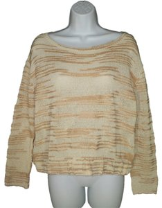 Anthropologie Cropped Knit Stripe Sweater