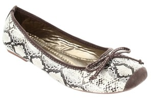 Other Crocodile Pattern Black White Grey Multi Color Flats