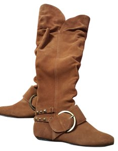 Naughty Monkey Buckle Nubuck Festival Pirate Dark Gold Boots