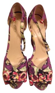 Nine West Platform Floral Wedges