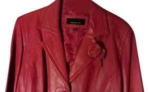 Jones New York Magenta Leather Jacket