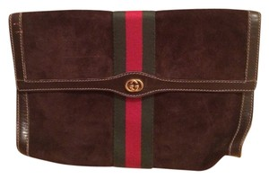 Gucci Gucci Brown Leather Parfum Cosmetic Bag