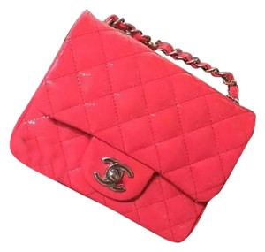 Chanel Patent Leather Classic Mini Cross Body Bag